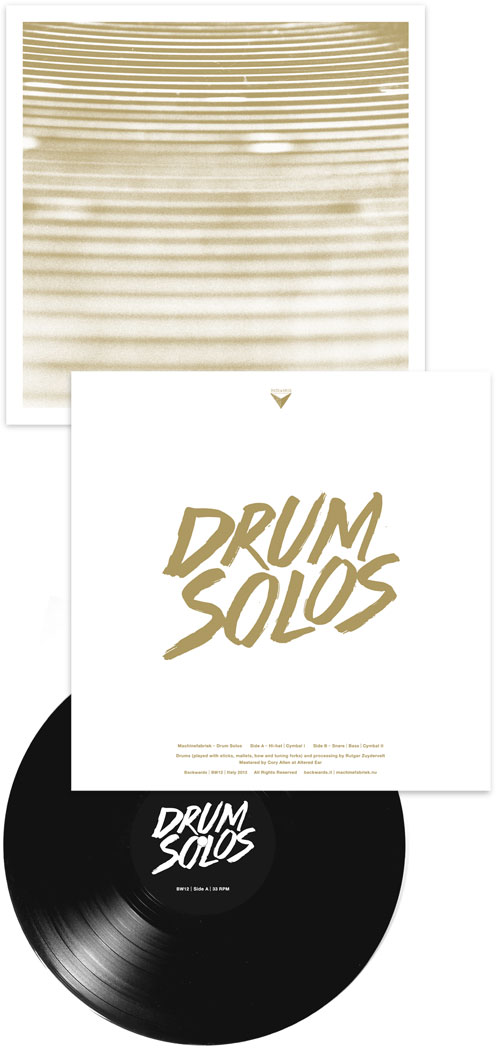 Machinefabriek: Drum Solos [Black VINYL] (Backwards)
