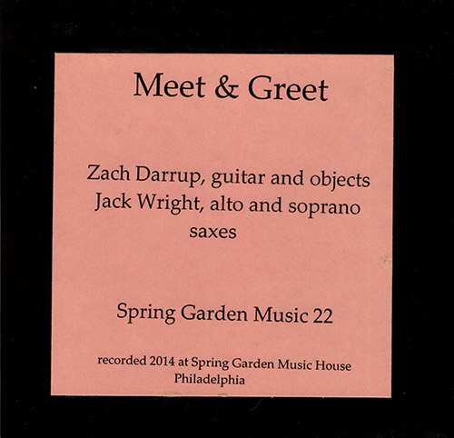 Wright, Jack / Zachary Darrup: Meet & Greet (Spring Garden Music)