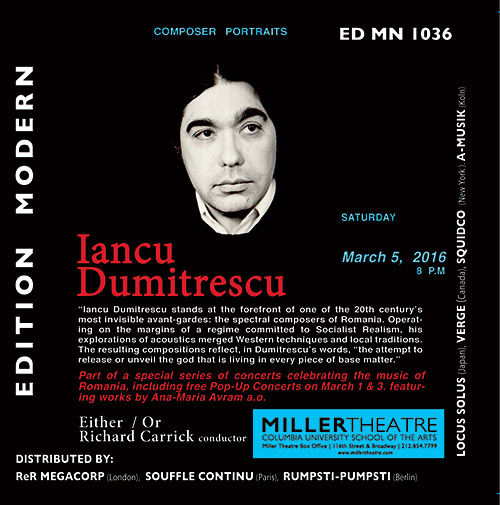 Dumitrescu, Iancu: Live In New York w/ Either/Or (Edition Modern)