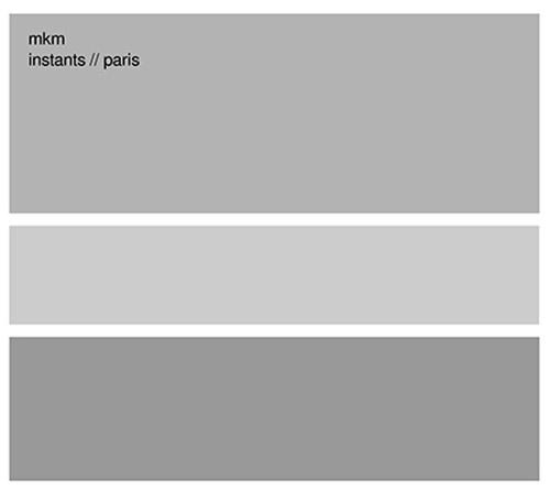 MKM (Jason Kahn / Gunter Muller / Norbert Moslang): Instants // Paris (Mikroton Recordings)