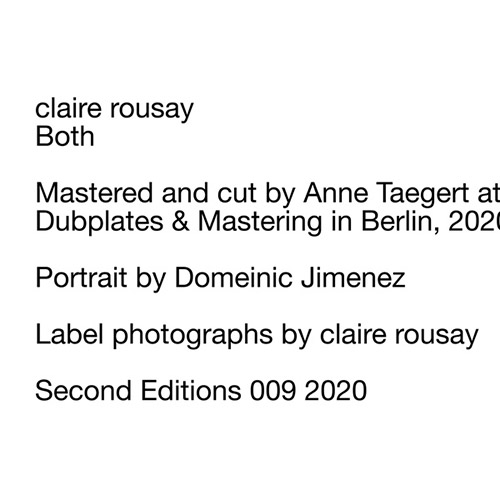 Rousay, Claire: Both [VINYL] (Second Editions)