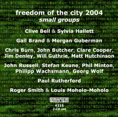 Various Artists: Freedom of the City 2004 - small groups [2 CDs] (Emanem)