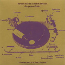 Falaise, Bernard / Tetrault, Martin: des gestes defaits (&Records)