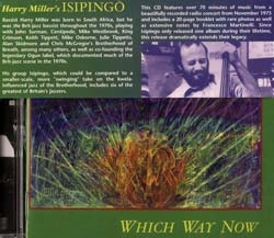 Miller, Harry's ISIPINGO: Which Way Now (Cuneiform)