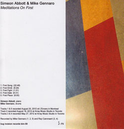 Abbott, Simeon & Mike Gennaro: Meditations on First (Bug Incision Records)