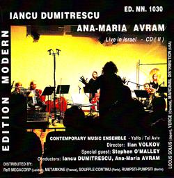 Dumitrescu, Iancu / Ana-Maria Avram: Live in Israel - CD (II) (Edition Modern)