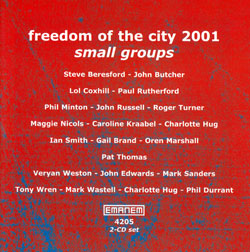 Various Artists: Freedom of the City 2001 - small groups [2 CDs] (Emanem)