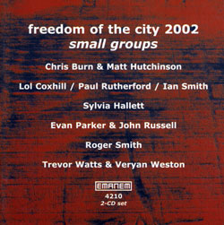 Various Artists: Freedom of the City 2002 - small groups [2 CDs]