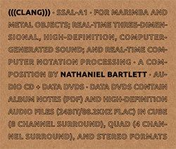 Bartlett, Nathaniel: (((Clang))) [CD + DVD] (Sound-Space Audio Lab)