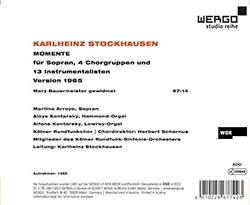 Stockhausen, Karlheinz: Momente