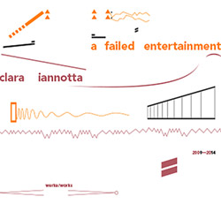 Iannotta, Clara    : A Failed Entertainment.  Works 2009-2014 (Edition Rz)