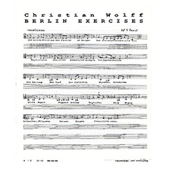 Wolff, Christian: Berlin Exercises [VINYL] (God Records)