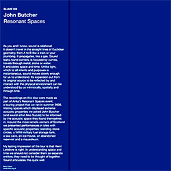 Butcher, John: Resonant Spaces [VINYL] (Blume)
