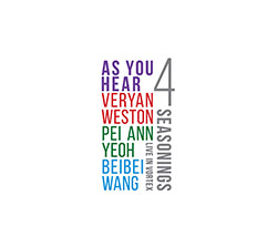As You Hear (Veryan Weston / Pei Ann Yeoh / Beibei Wang): Four Seasonings (Listen! Foundation (Fundacja Sluchaj!))