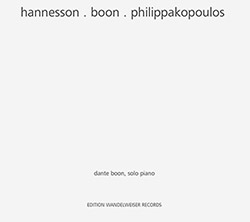Hannesson, Mark / Dante Boon / Anastassis Philippakopoulos : hannesson . boon . philippakopoulos (Edition Wandelweiser Records)