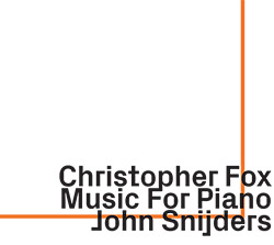 Fox, Christopher : Music For Piano (ezz-thetics by Hat Hut Records Ltd)