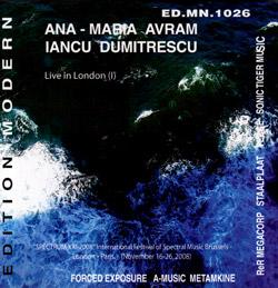 Avram, Ana-Maria / Dumitrescu, Iancu: Live in London (I) (Edition Modern)