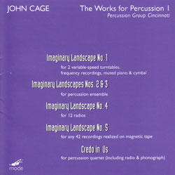 Cage, John: The Works for Percussion 1 [DVD AUDIO & DVD]