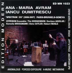 Avram, Ana-Maria / Iancu Dumitrescu: Spectrum XXI (Edition Modern)