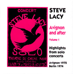 Lacy, Steve: Avignon And After Vol.1 (Emanem)