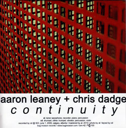 Leaney, Aaron & Chris Dadge: Continuity (Bug Incision Records)