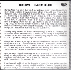 Mann, Chris: The Art of the Diff [DVD] (D.S al Coda)