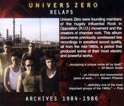 Univers Zero: Relaps (Cuneiform)