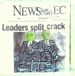 Chadbourne, Eugene: Leaders Split Crack (Blues 2004)