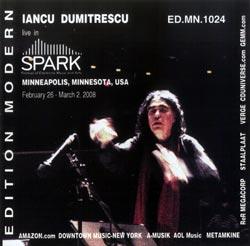 Avram, Ana Maria / Iancu Dumitrescu: Live in Spark (MN) (Edition Modern)