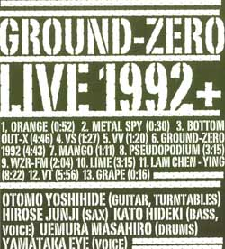 Ground-Zero: Live 1992 + (Doubtmusic)