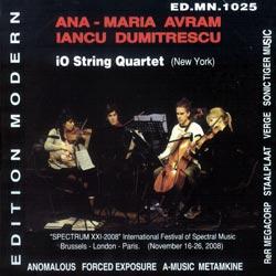 Avram, Ana-Maria / Dumitrescu, Iancu: iO Quartet (Edition Modern)