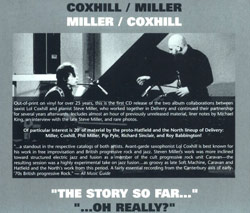 "Miller, Steve / Coxhill, Lol: ""The Story So Far..."" and "" ...Oh Really?"""
