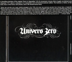 Univers Zero: (Remastered) (Cuneiform)