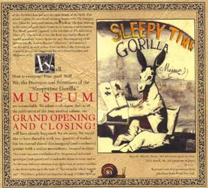 Sleepytime Gorilla Museum: Grand Opening and Closing (The End Records)