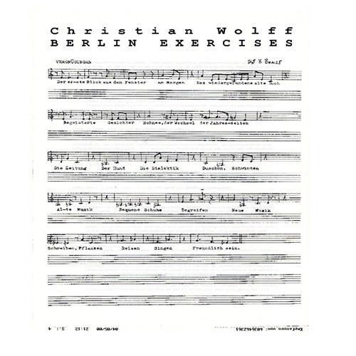 Wolff, Christian: Berlin Exercises [VINYL] (God Records)
