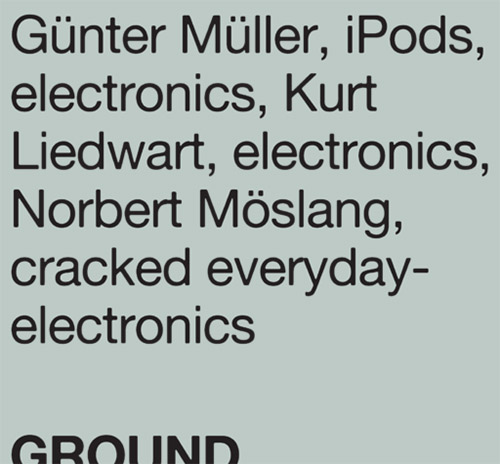 Muller, Gunter / Kurt Liedwart / Norbert Moslang: Ground (Mikroton Recordings)