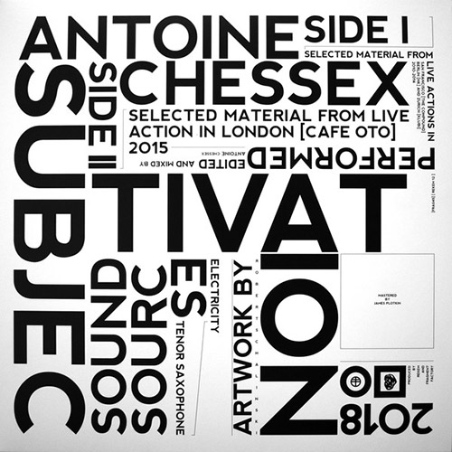 Chessex, Antoine: Subjectivation [VINYL] (Fragment Factory)