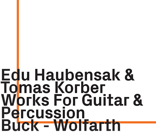 Haubensak, Edu / Tomas Korber: Works For Guitar & Percussion by Buck-Wolfarth (ezz-thetics by Hat Hut Records Ltd)