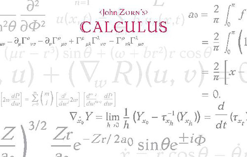 Zorn, John feat. the Brian Marsella Trio: Calculus (Tzadik)