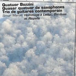 Martin, Simon (w/ Quasar, Bozzini Quartet, Trio de guitares contemporain): Hommage a Leduc, Borduas