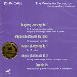 John Cage (Ulrich Krieger): A Cage Of Saxophones Vols. 3 & 4 - Indeterminancy Mode (Mode Records)