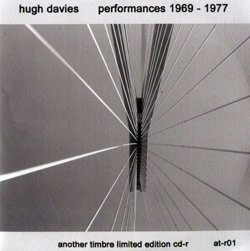 Davies, Hugh : Performances 1969 - 1977